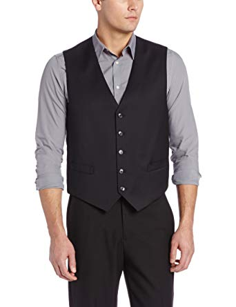 Tommy Hilfiger Men's Black Trim-Fit Solid Vest, Size S