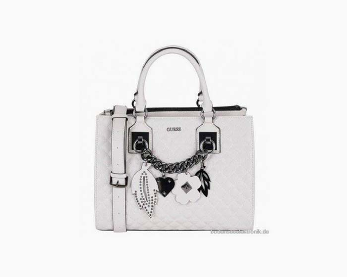 GUESS Cross Body Bag Stassie Girlfriend Satchel Stone - NWT