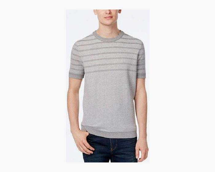 Ben Sherman Men's Waffle Knit Stripped Sweater, $79