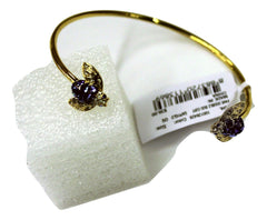 C Wonder Double Bug Cuff Bracelet, Gold