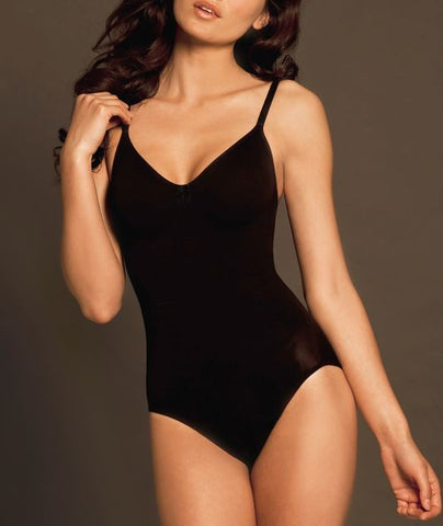 BODY WRAP BLACK FIRM CONTROL WIRE-FREE BODYSUIT, SIZE US M