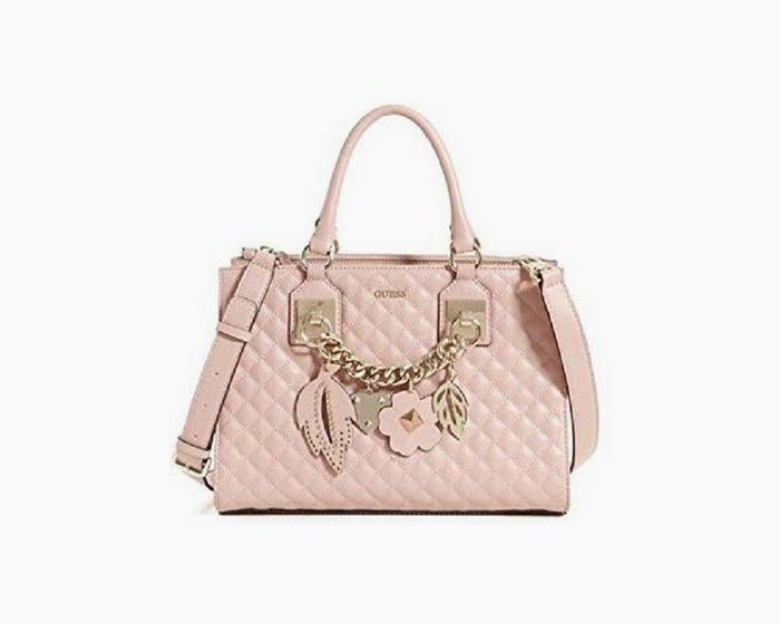 GUESS Cross Body Bag Stassie Girlfriend Satchel Pink - NWT