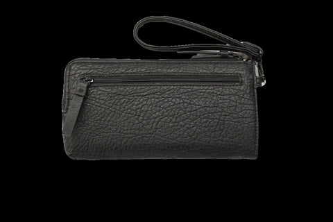 Kenneth Cole Reaction Black RFID Clutch Wristlet Wallet with Portable Phone Charger