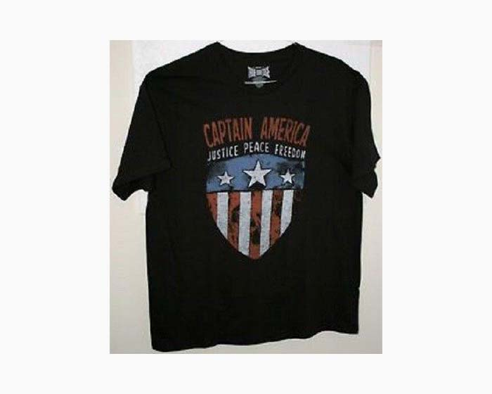 Genuine True Vintage Men's Captain America Tee, NWT, $32