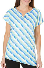 Alfred Dunner Lace Striped Top 8
