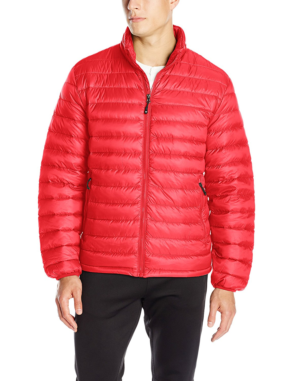 32 Degrees Men's Red Nano Light Packable Jacket, Size M
