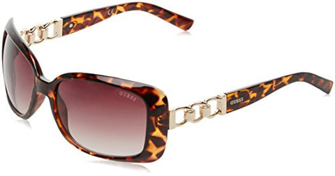 GUESS Factory Women's Chain-Trim Contour Sunglasses