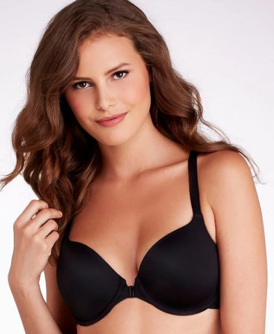 Dominique Women's Black Talia Front Close T-Shirt Bra, Size 42D NWOT