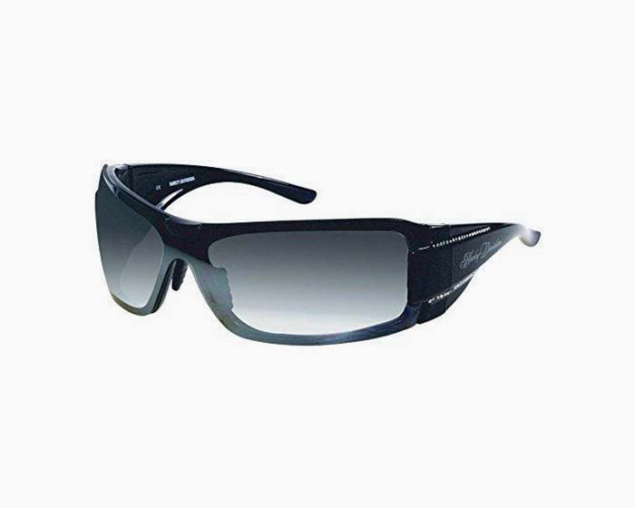 Harley-Davidson HDS8003BLK-3F Black Frame Grey Flash Lens Sunglasses by Viva Eyewear