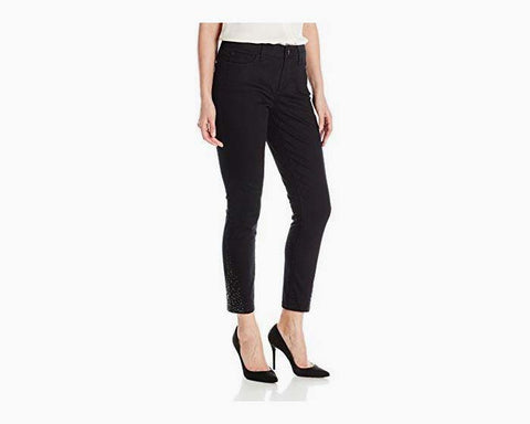 NYDJ Women's Black Amira Fitted Ankle Jeans, Size 6