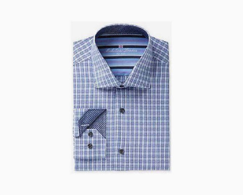 Michelsons of London Men's Slim-Fit Texture Check Dress Shirt - NIB - $75