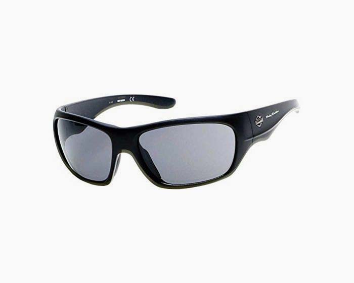 Harley-Davidson Men's Injected B&S Sunglasses, Matte Black & Smoke Flash Lens
