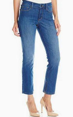 NYDJ Women's Ira Relaxed Ankle Jeans With Inseam Slit