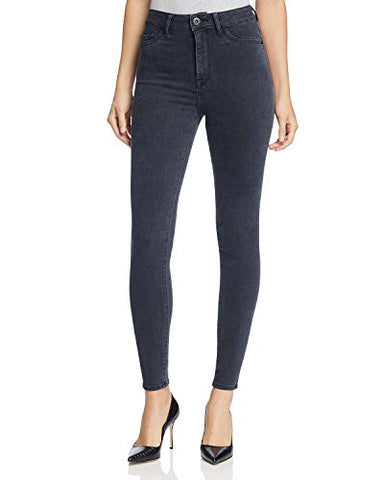 DL1961 Women's Jessica Alba No. 1 Trimtone High Rise Jeans In Battle (Black) Size 26