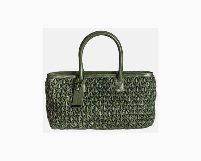 Catherine Malandrino Leather carryall Handbag - Evergreen - $795 - NWT