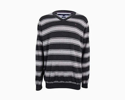 Tommy Hilfiger Mens Knit Long Sleeves Pullover Sweater Gray XXL