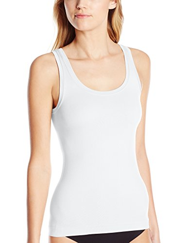 Bali Women's One Smooth U All Around Smoothing Tank White Medium