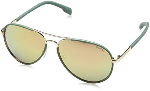 Guess GF261 32 G Women's Sunglasses Mirorred Matte Aviator