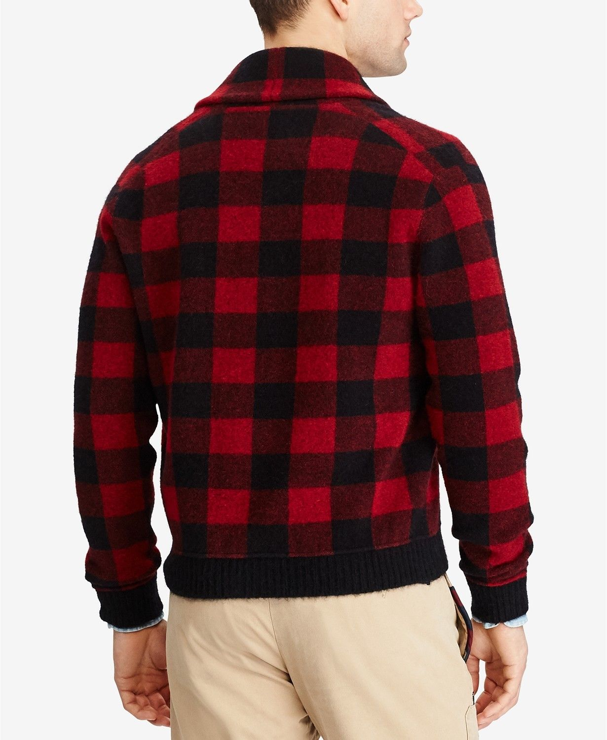 56f9084c Polo Ralph Lauren Mens Jacket classic buffalo plaid pattern Size Med $495  NWT