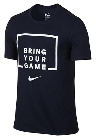 Men's Nike Bring Your Game Dri Fit Tee Shirt Black White XL NWT