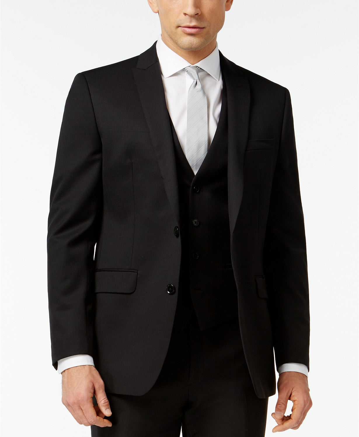 Bar III Men's Black Solid Slim-Fit Jacket, Size 42R
