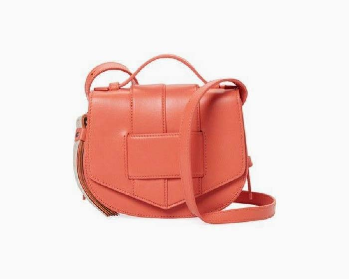 Botkier Women's Chelsea Small Leather Saddle Crossbody - Grapefruit - NWT - $248