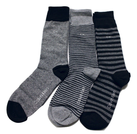 Calvin Klein 3 Pair Black Men's Dress Socks NIB
