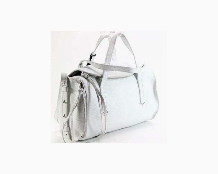 Botkier Bowery Cylinder Chalk White Satchel Leather Handbag Purse $278 - NWT