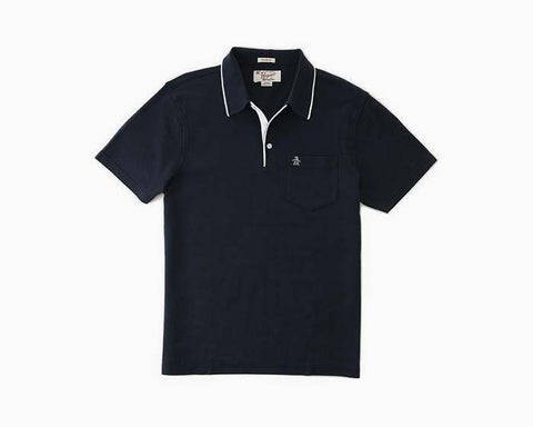 Original Penguin Contrast Trim Basic Polo - Navy - NWT