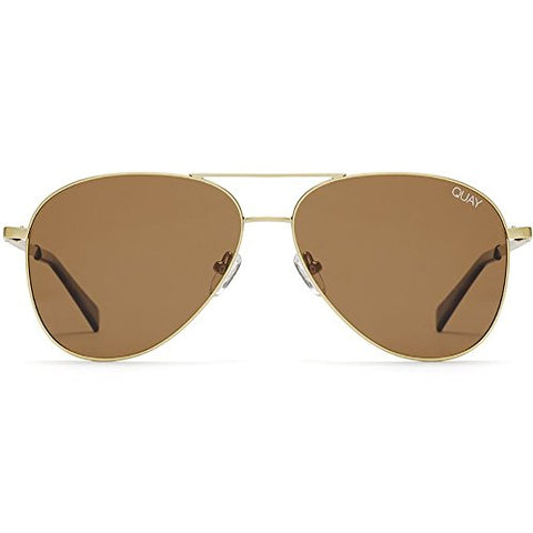 Quay Australia Still Standing Sunglasses in Gold Brown