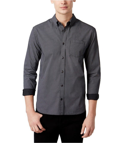 $52 WHT SPACE by Shaun White Men's Micro Dot Print Shirt, Black, Size 2XL