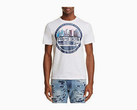 PRPS Goods & Co. Skyline Cherub Tee, White