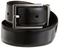 Calvin Klein Men's Smooth Leather Reversible Feather Edge Belt,Black/Brown,36