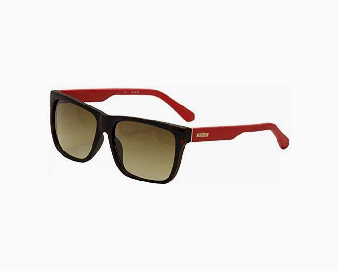 Guess Square Sunglasses in Havana GU6838 56F 57