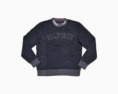 Tommy Hilfiger Mens Graphic Pullover Sweatshirt (XX-Large, Dark Indigo)