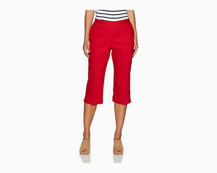 Alfred Dunner Women's Red Capris, Size 18