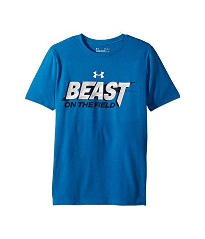 Under Armour Kid's/Men's Blue 'Beast On The Field' Short-Sleeve T-Shirt