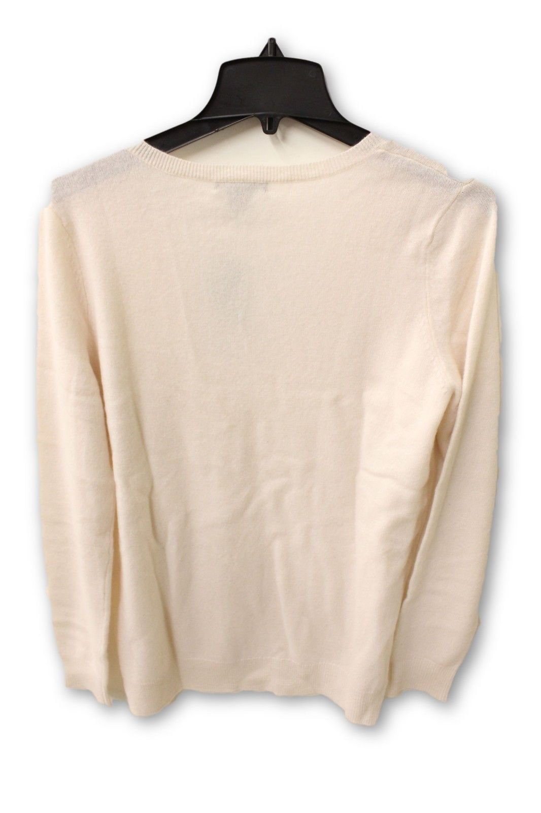 C by Bloomingdale's Women's Cashmere - Beige V Neck Sweater XL NWT