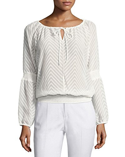 Laundry By Shelli Segal Women's Smocked-Trim Peasant Top