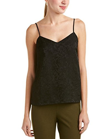 Theory Womens Sakshee NL.IVY Jacquard Wash Top, M, Black
