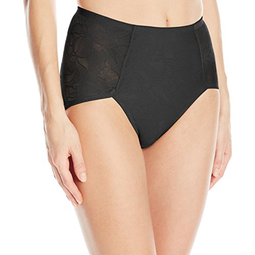 Bali Women's Shapewear Ultra Light Brief Black 2X