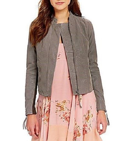 Free People Clean Vegan Faux Leather Jacket Moto - NWT - $198