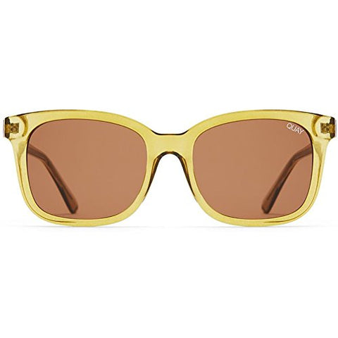 Quay Australia Kingsley Sunglasses in Olive/Brown