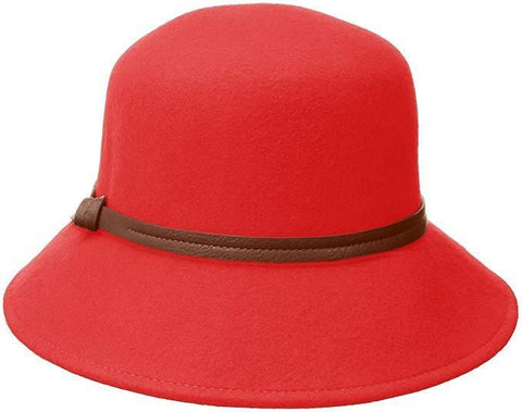 Nine West Women's Red Felt Trench Hat