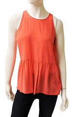Ecru Clothing Silk Tank With Yoke, Size M, New, 184