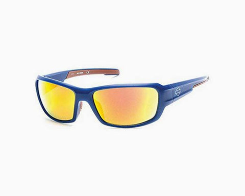 Sunglasses HD Motor Clothes 0637 S 91U matte blue / bordeaux mirror