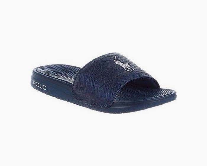 Polo Ralph Lauren Men's Rodwell Slides , 8D, Blue, NIB