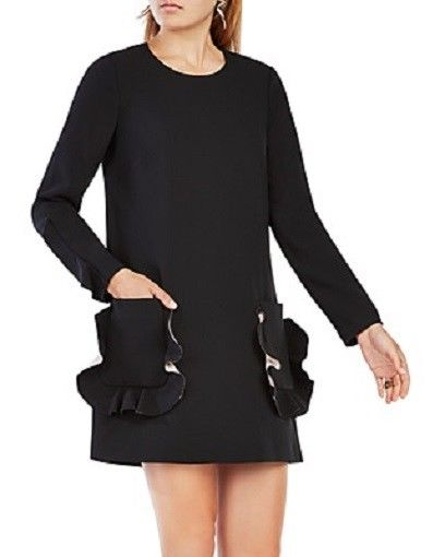 BCBG Nakita Ruffled Trim Shift Dress, Size M, $278, NWT