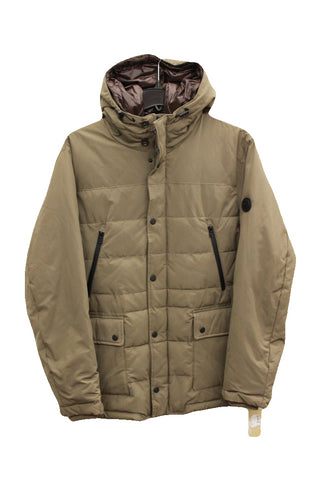 Michael Kors Men's Hooded Puffer Coat with Attached Bib, Size XXL