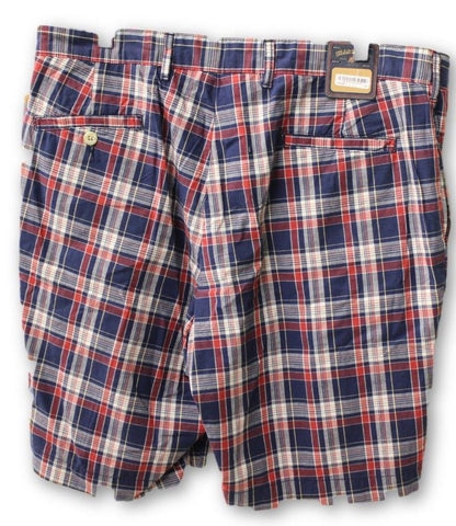 Bill Khakis Men's Red and Blue Shorts Size 36 NWT